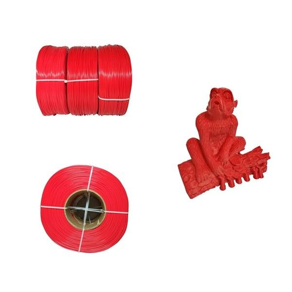 Filament durable d'imprimante de PLA 3D de couleur rouge, rigidité 1,75 de filament de Pla